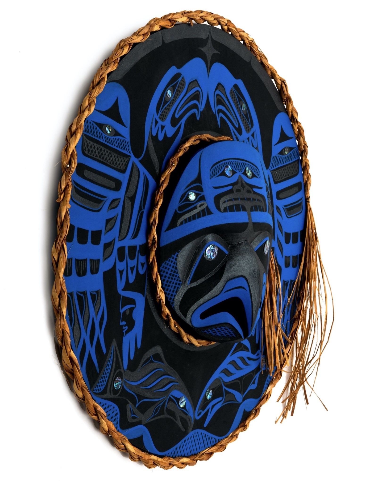 Nu-chah-nulth Eagles and Salmon Moon Mask