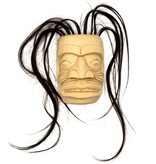 """6"""" Miniature Kwak'wak'wakw Human Mask"""