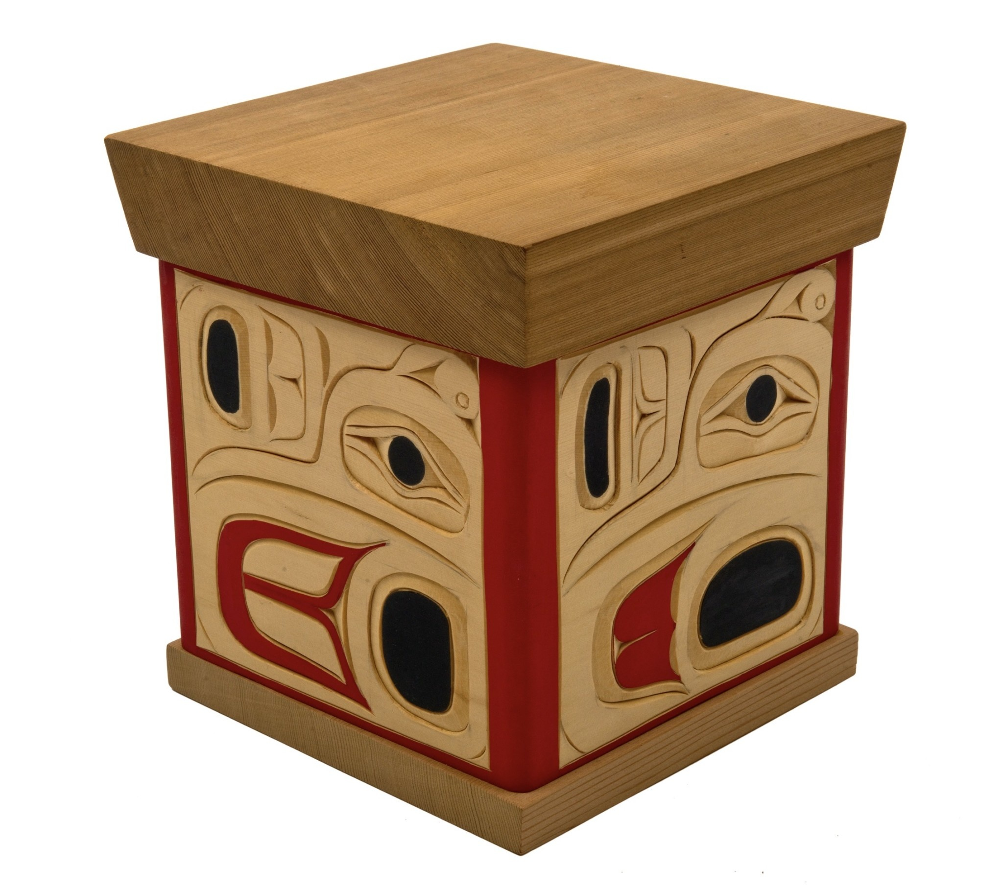 Coast Salish Bentbox Hummingbird Design