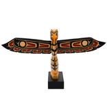 Coast Salish Model Totem Pole by Peter Charlie