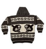 XL Orca Cowichan Sweater with Hood