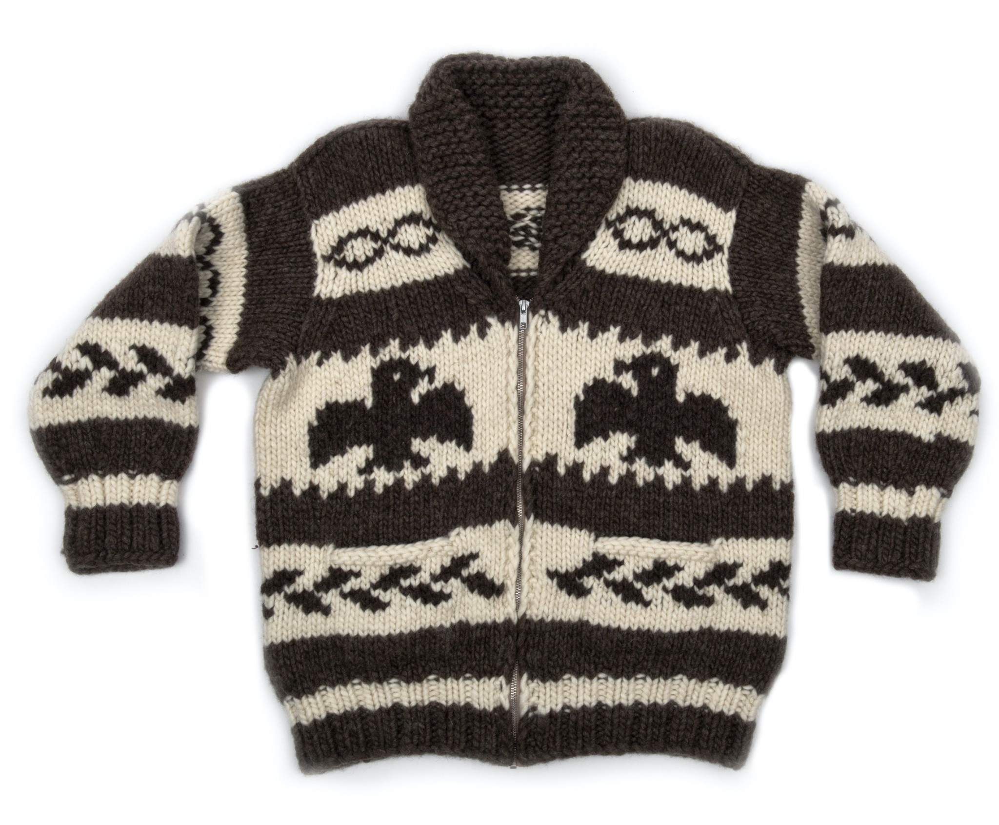 Large Eagle Cowichan Sweater