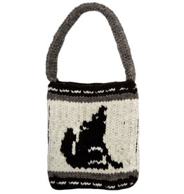 Purse with Wolf Design