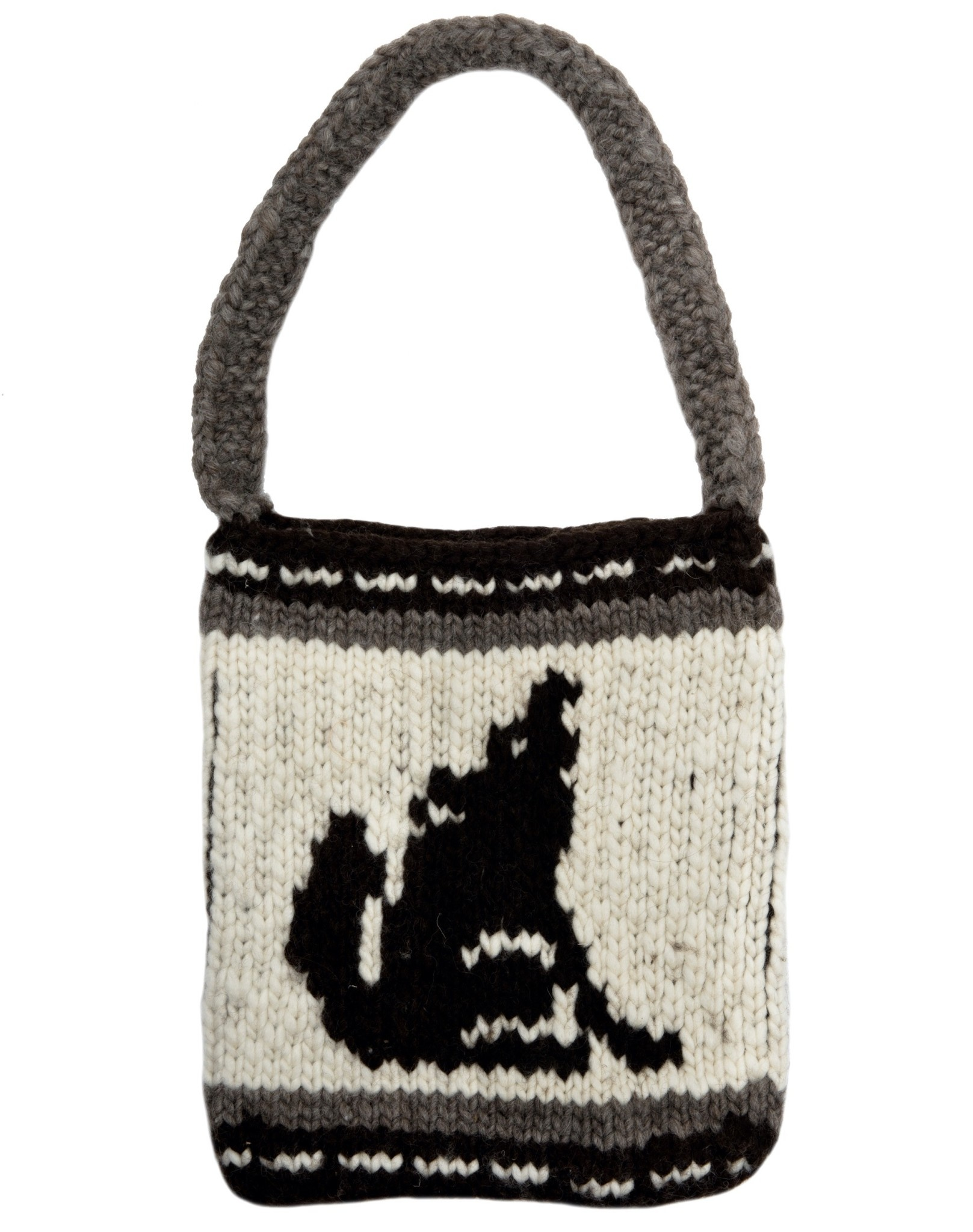 Cowichan Purse with Wolf Design