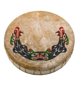 Drum with Sisiutl Painting