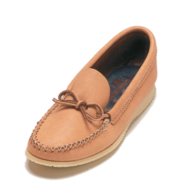 Dark Moosehide Moccasins with Outdoor Sole