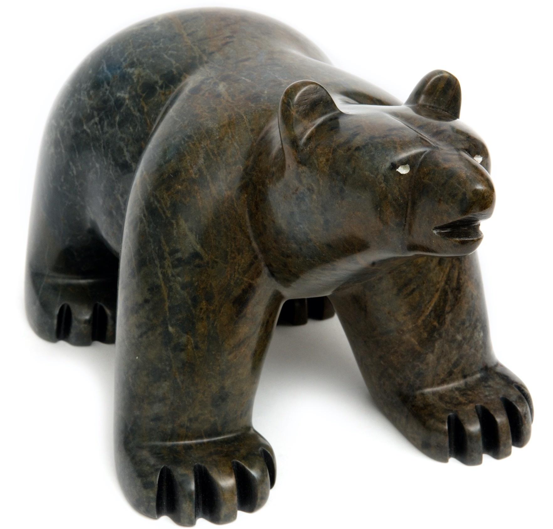 Very Large Soapstone Bear (Cree).