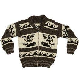 Medium Thunderbird / Orca Sweater with Waves