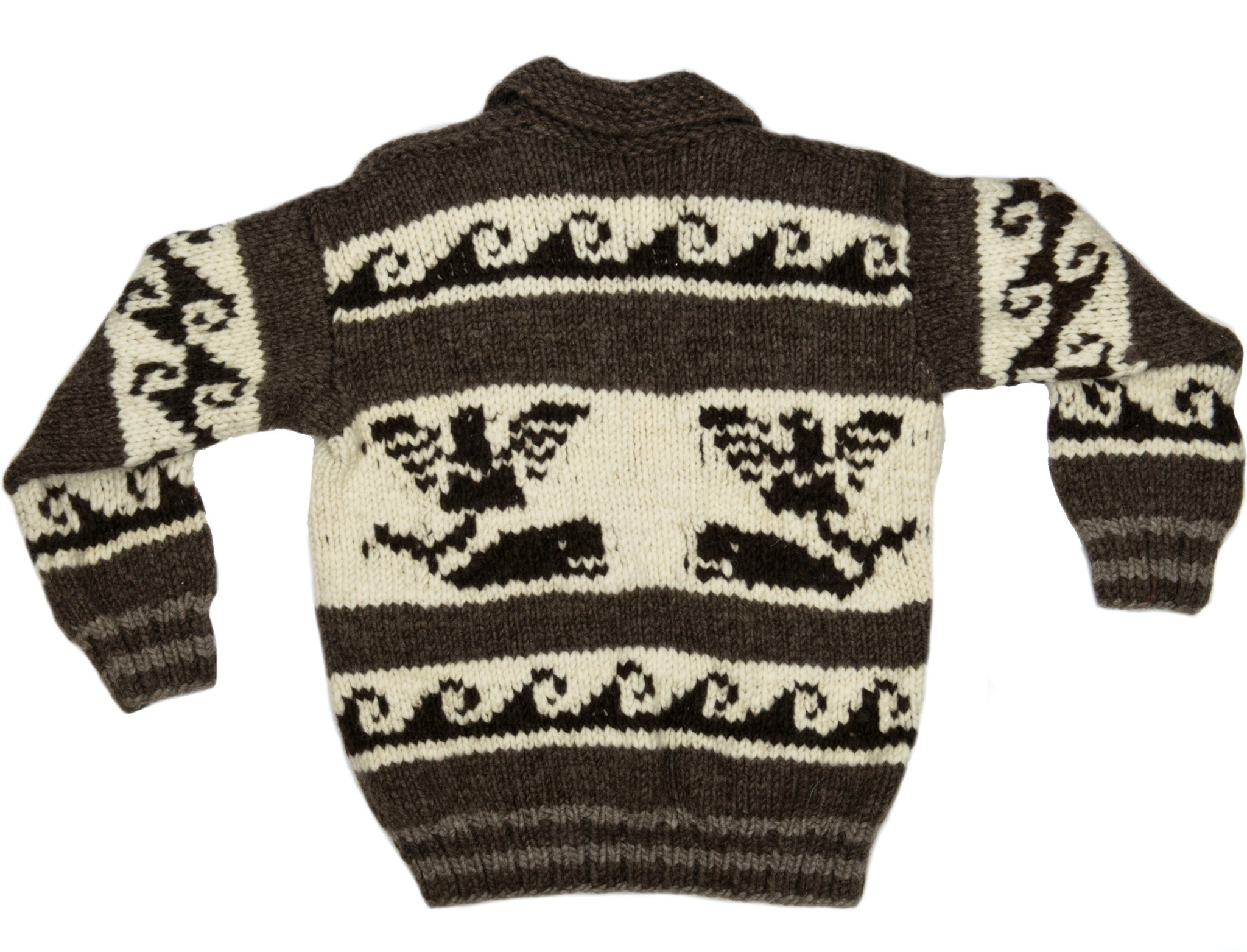 Medium Thunderbird / Orca Sweater with Waves