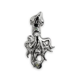 Kwak'waka'wakw Silver Squid Repousse Pendant