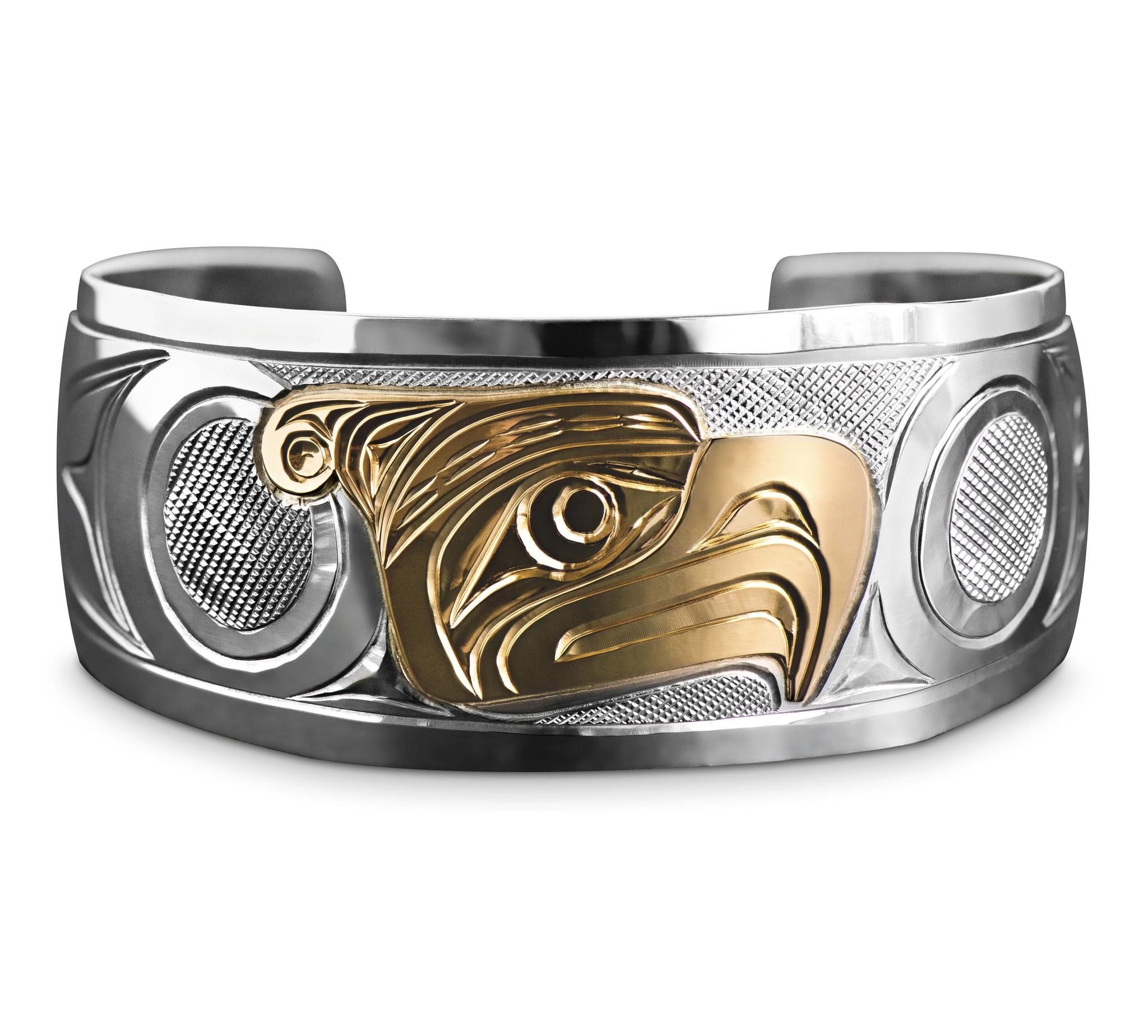 "1"" Gold / Silver Thunderbird Bracelet"