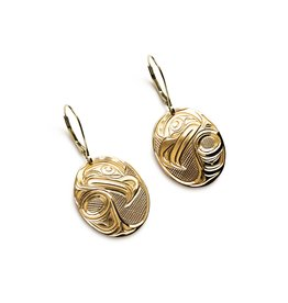 18 Kt Eagle Eagle Earrings