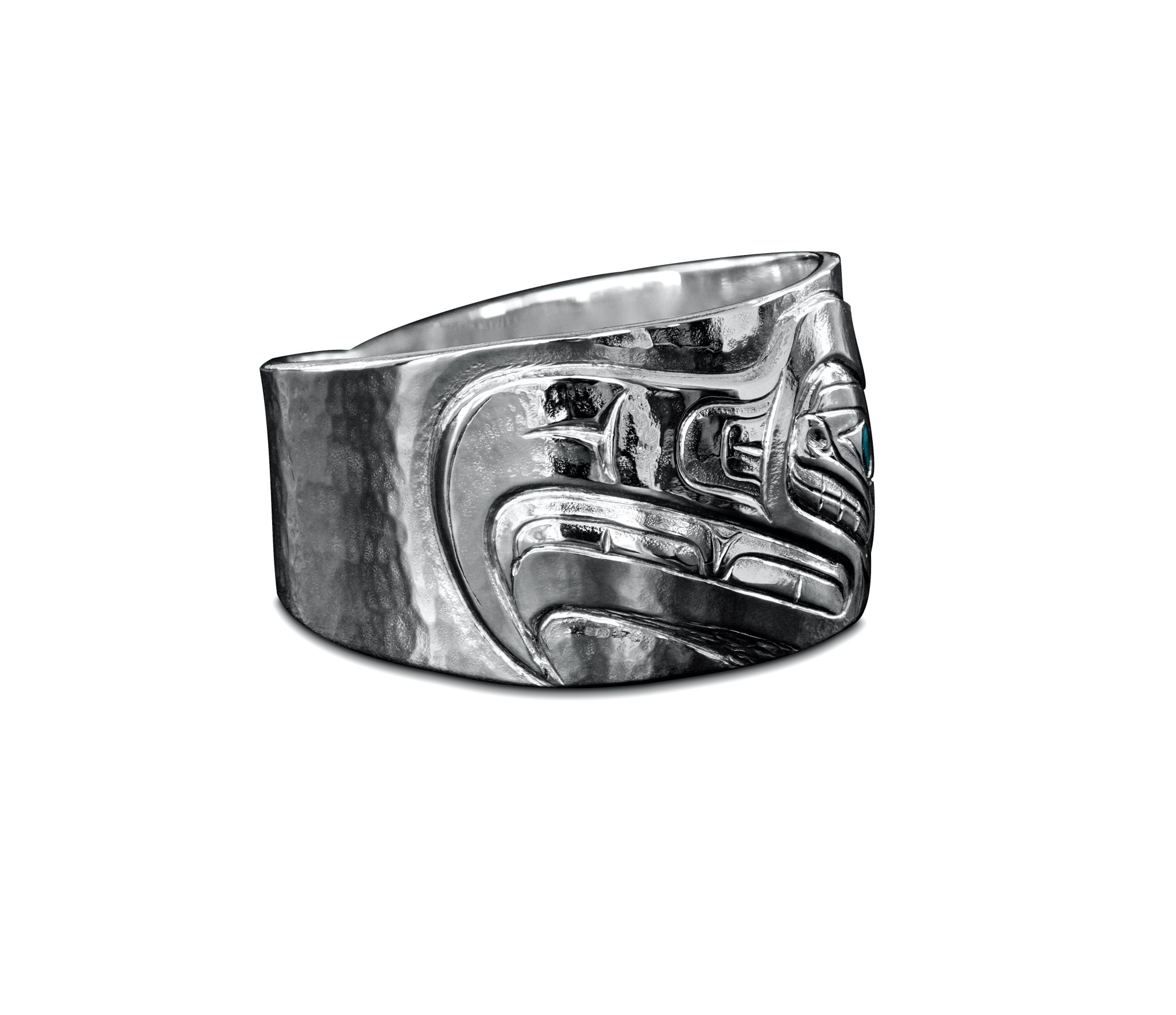 Silver Repouse Eagle Ring s 10 1/2