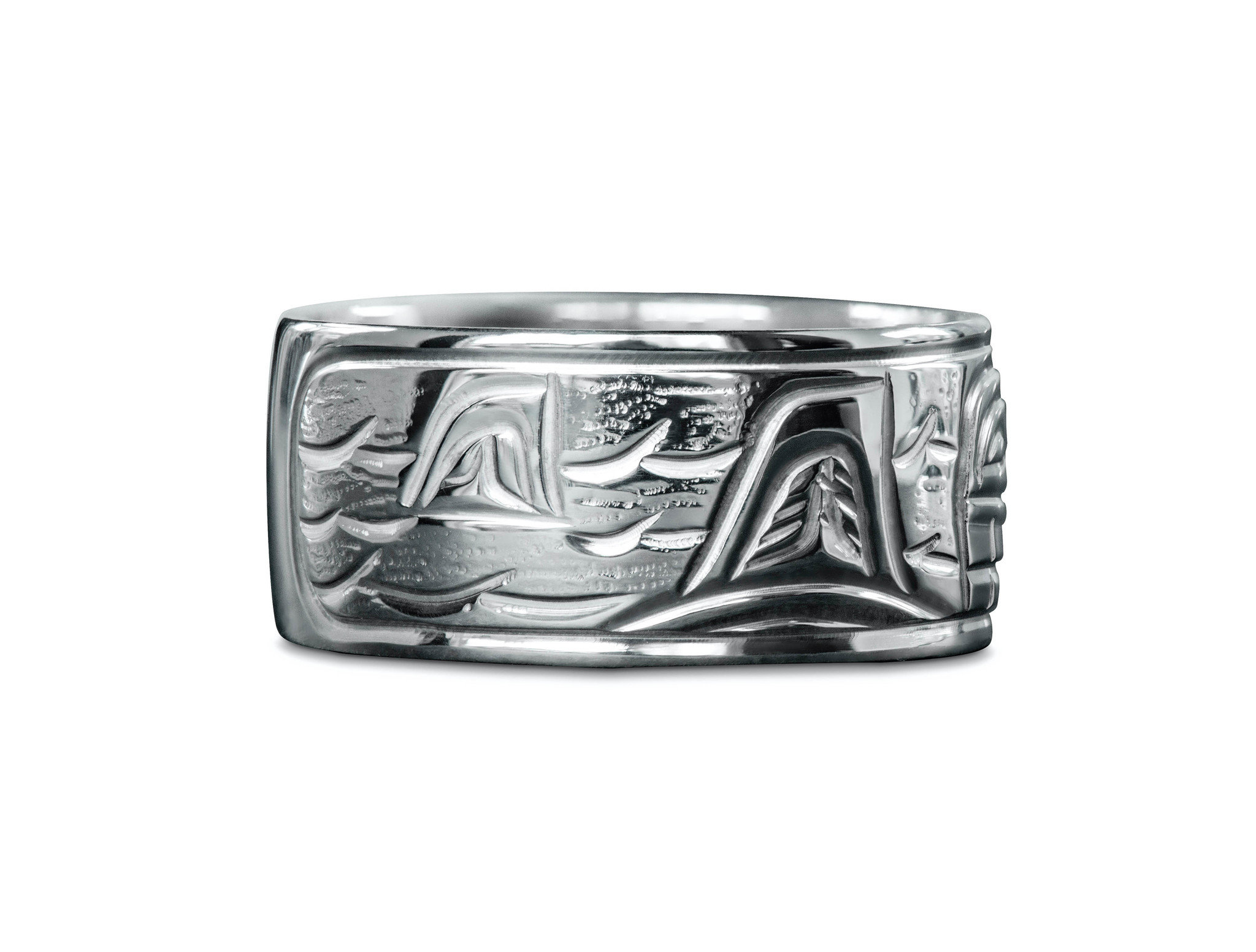 "3/8"" wide Orca Ring by Charles Harper"