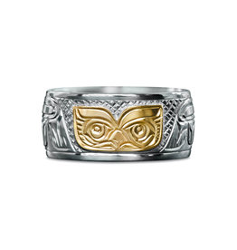 "3/8"" wide Owl Ring by Charles Harper"