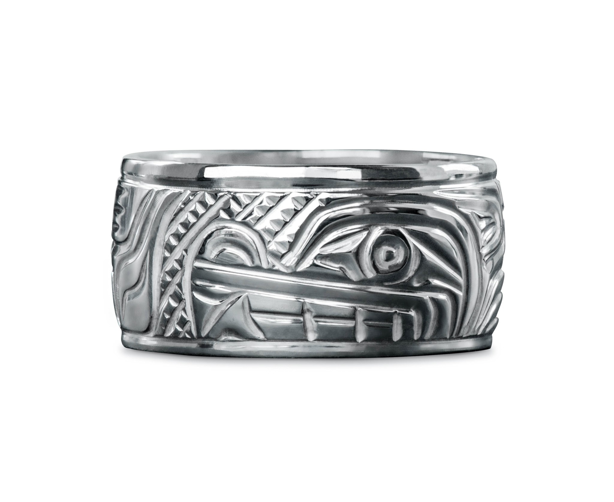 "3/8"" wide Wolf Ring by Charles Harper"