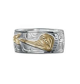 "3/8"" wide Hummingbird Ring by Charles Harper"