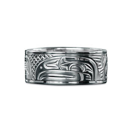 "3/8"" wide Raven Ring by Charles Harper"