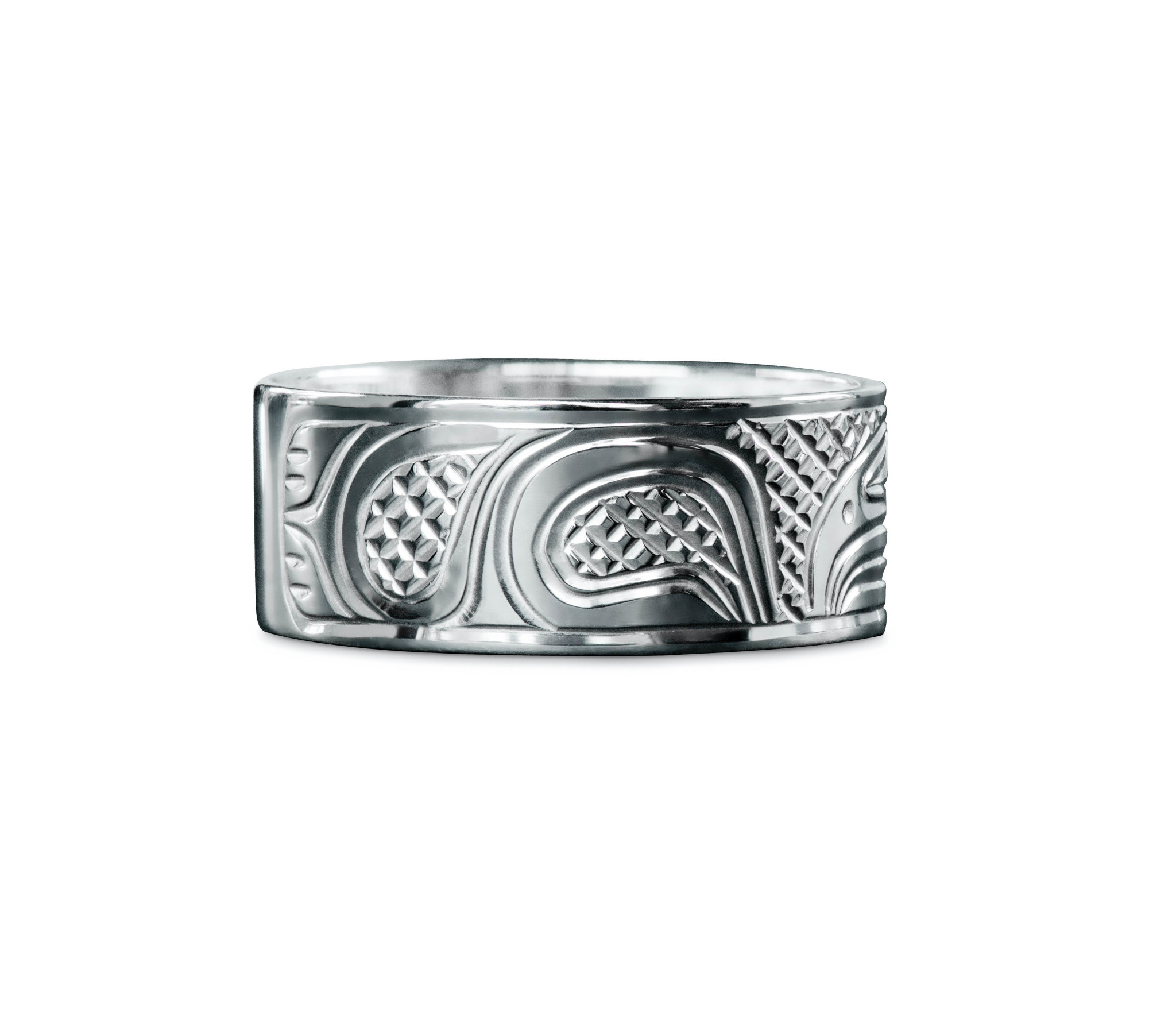 """3/8"""" wide Raven Ring by Charles Harper"""
