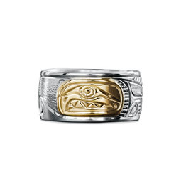 "3/8"" wide Salmon Ring by Charles Harper"