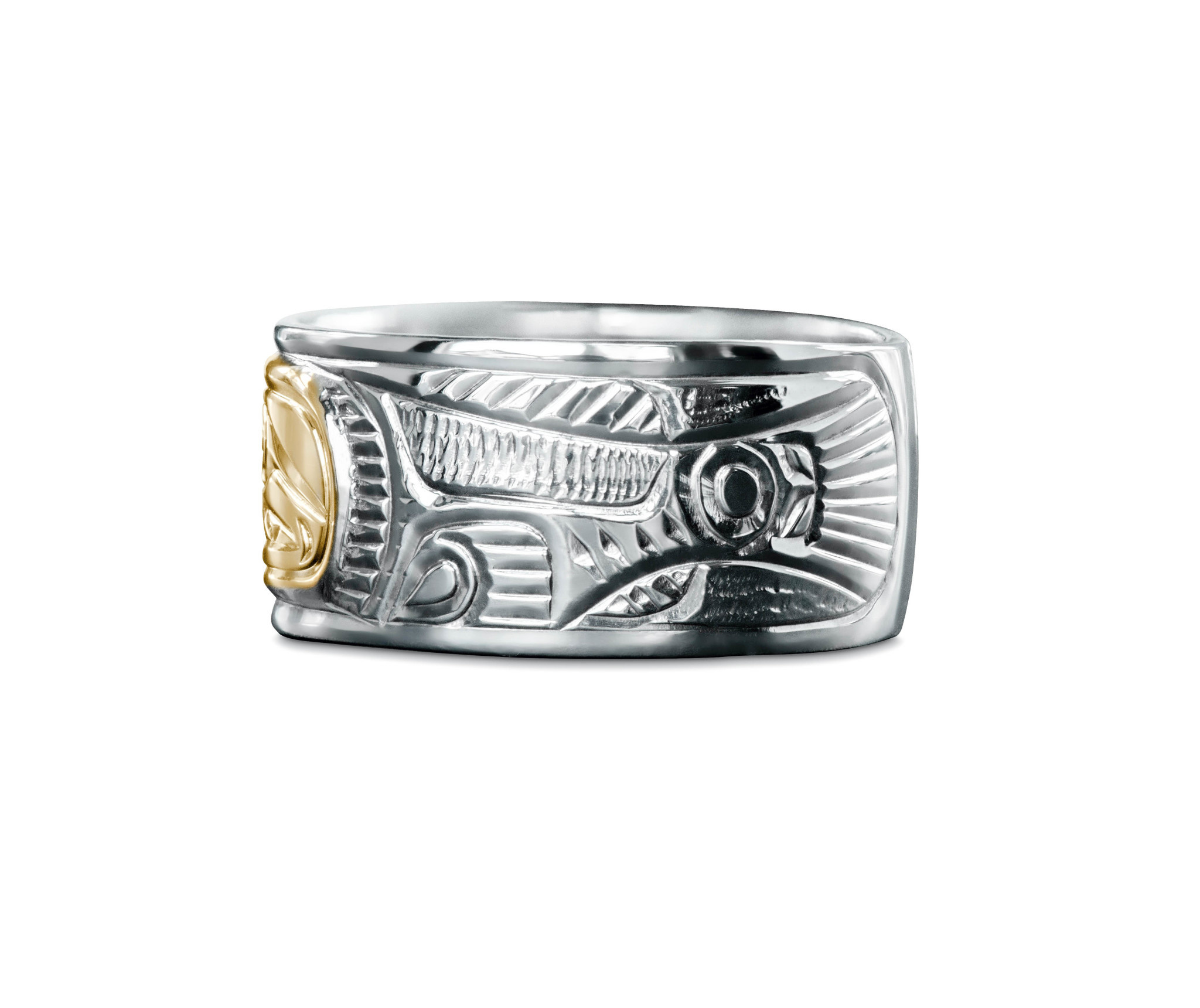 """3/8"""" wide Salmon Ring by Charles Harper"""