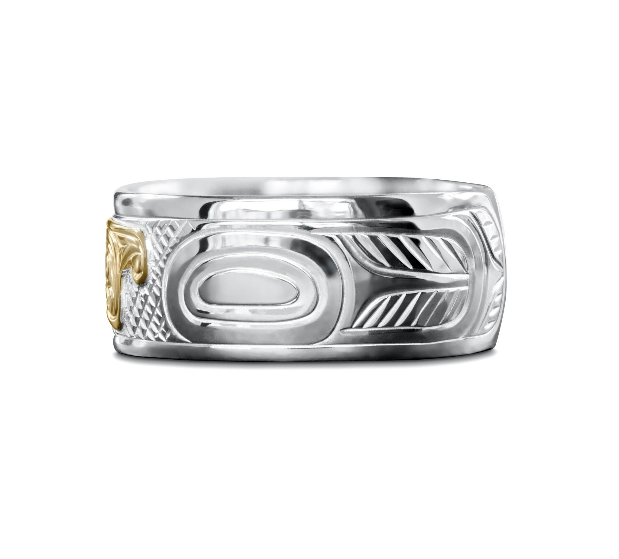 "3/8"" wide Thunderbird Ring by Charles Harper"