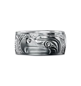 "3/8"" wide Eagle Ring by Charles Harper"