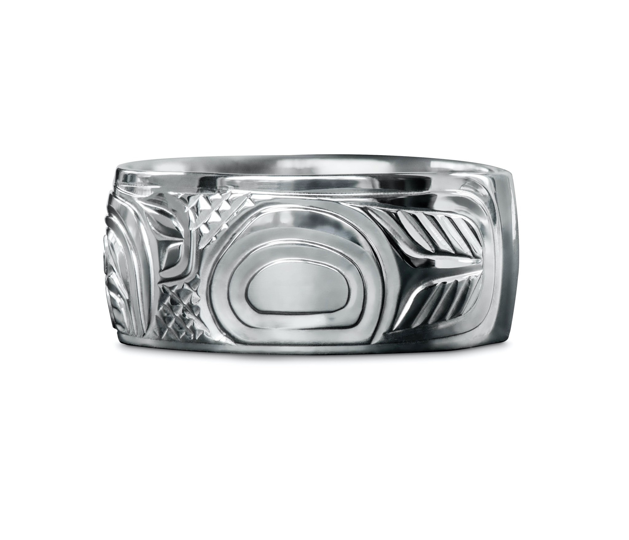 """3/8"""" wide Eagle Ring by Charles Harper"""