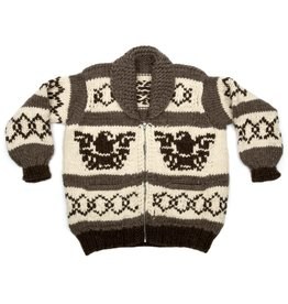 XX Large  Eagle Thunderbird  Cowichan Sweater