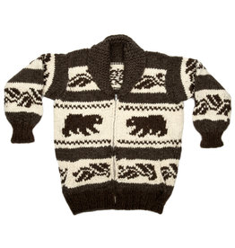 XL  Bear Cowichan Sweater