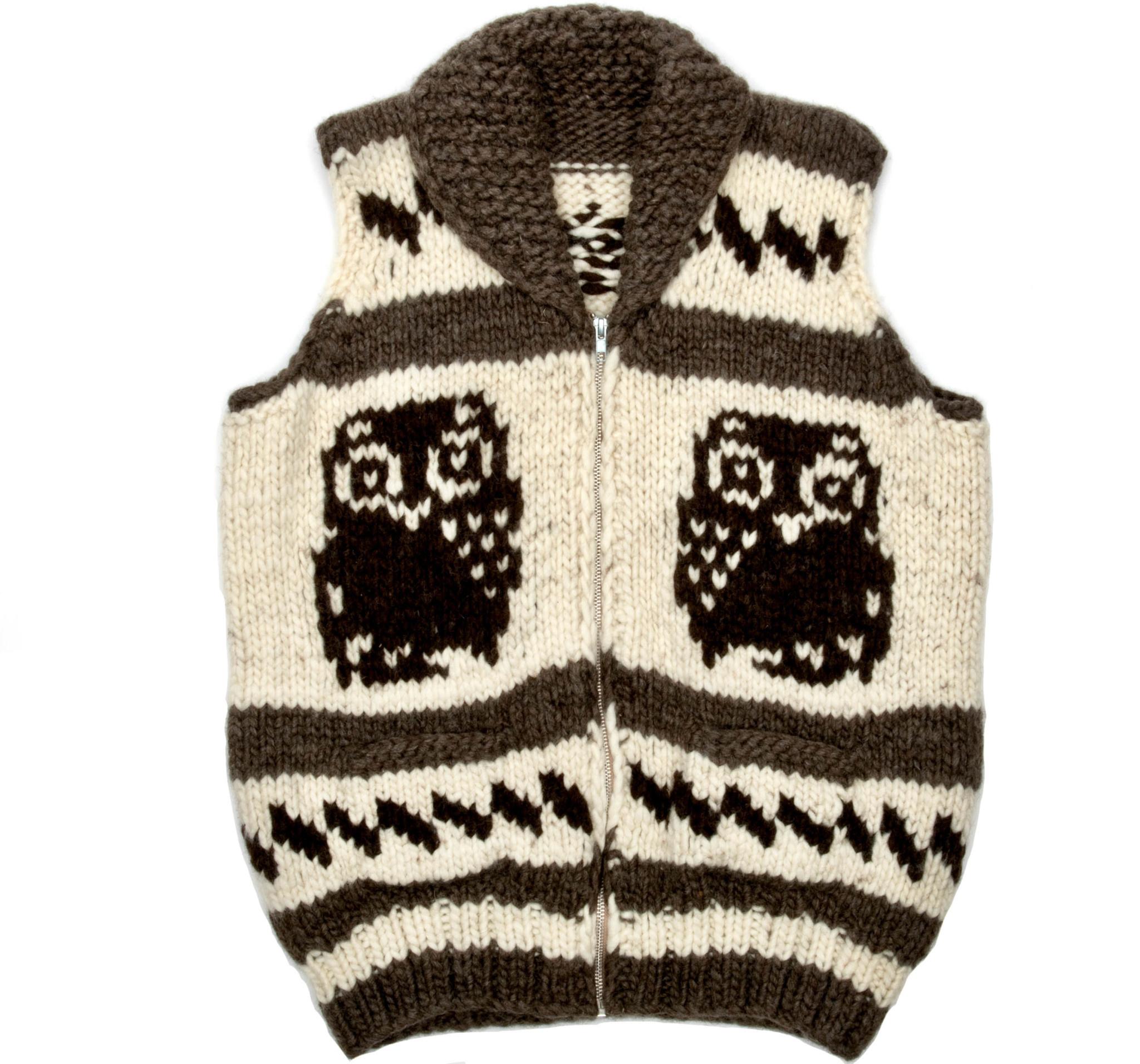 Large Owl Cowichan Vest
