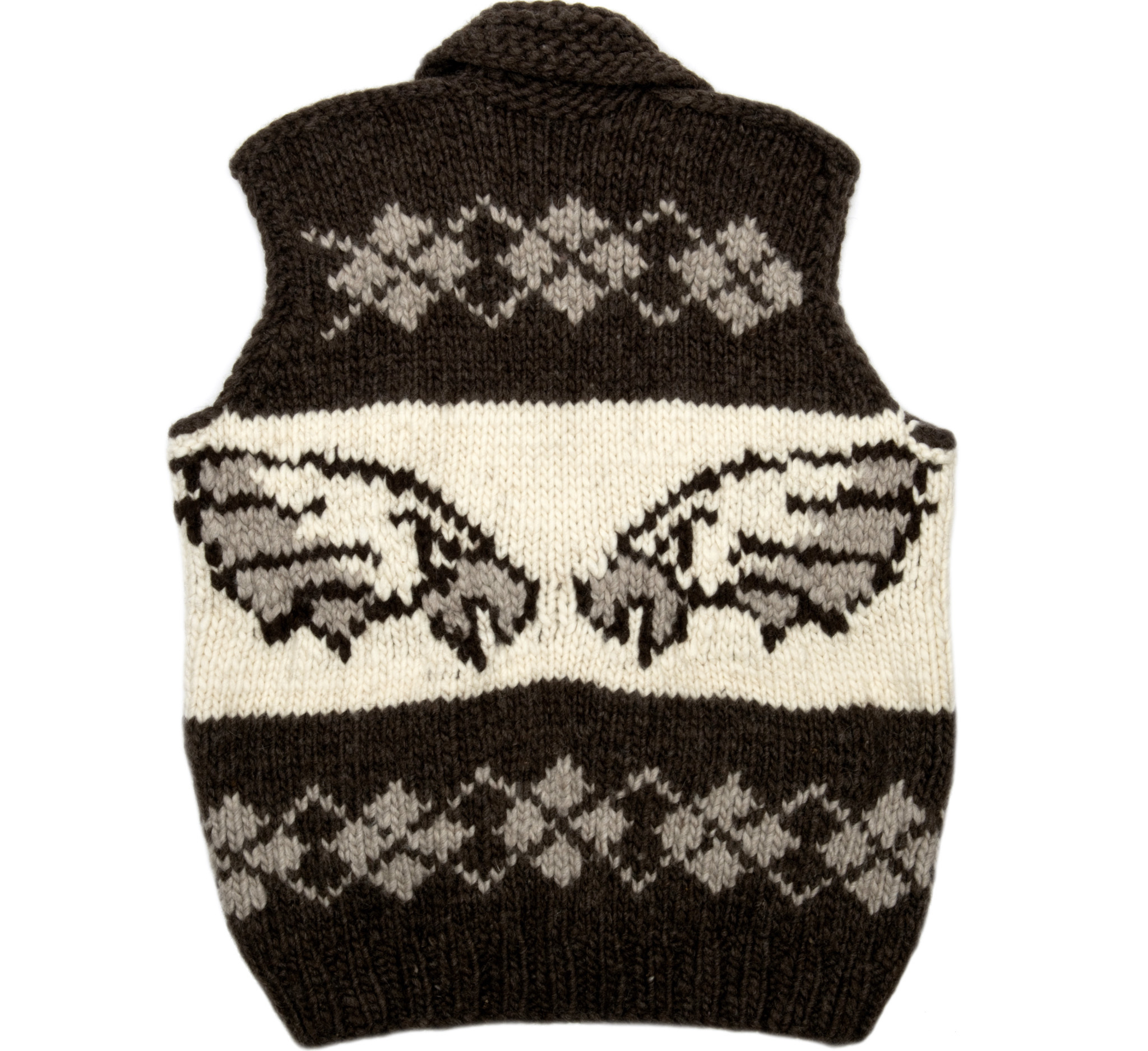 Large Eagle Cowichan Vest
