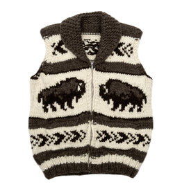 Large Buffalo Cowichan Vest