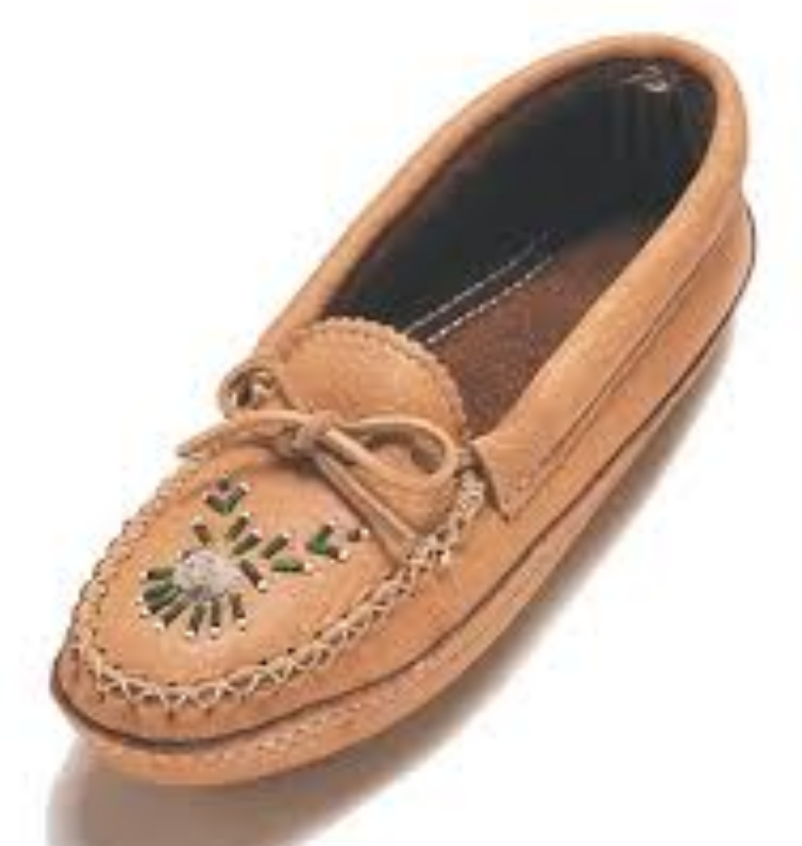Moccasin with Moosehide Tufting