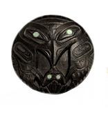 Haida Argillite Raven and Frog Pendant