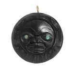 Haida Argillite Raven Sun Pendant