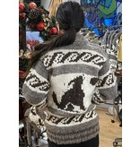 Small  Wolf Cowichan Sweater