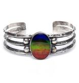 Southwestern Silver and Ammolite Bracelet