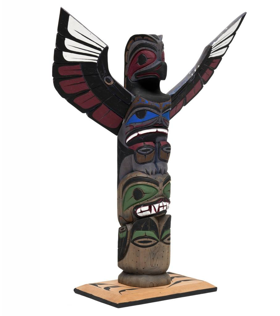 Thunderbird and Seal Totem Pole