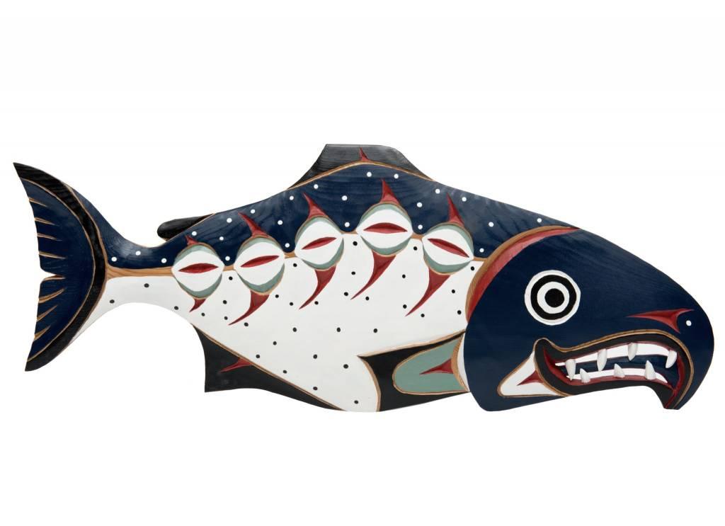 Chum Salmon Plaque by William Good (Nanaimo / Coast Salish).