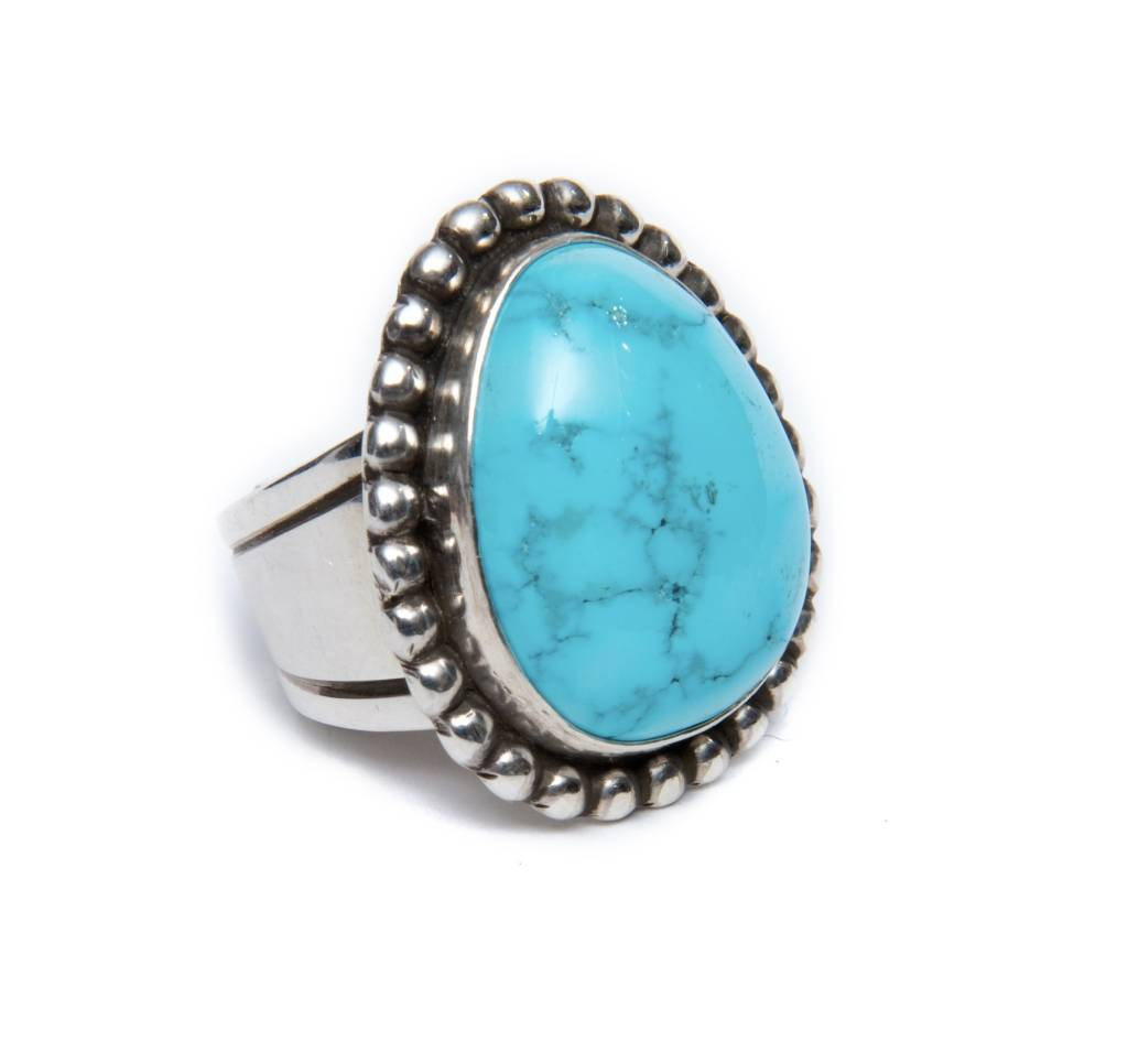 Natural Blue Ridge Ring S 7 by Randy and Etta Endito (Navajo).