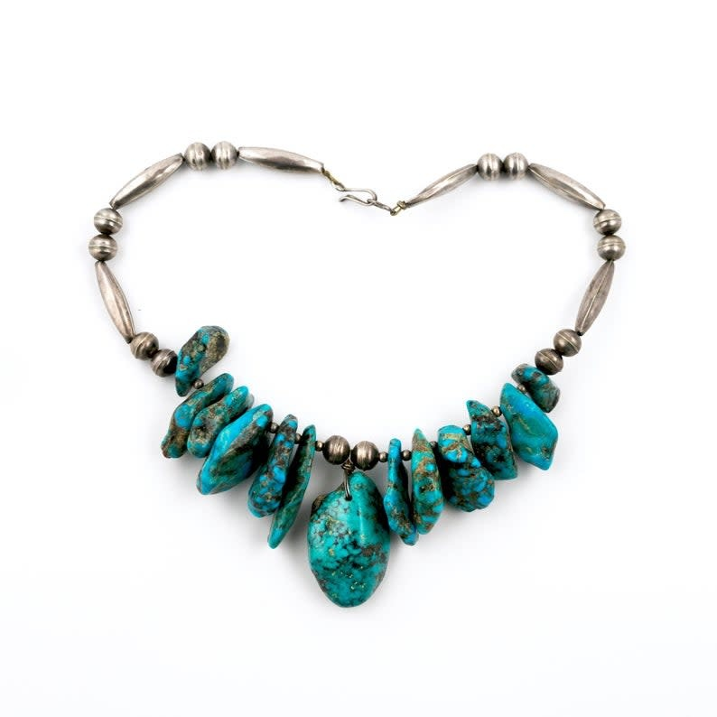 Vintage Turquoise Nugget Choker