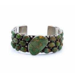 Vintage 1970's Clustered Turquoise Bracelet