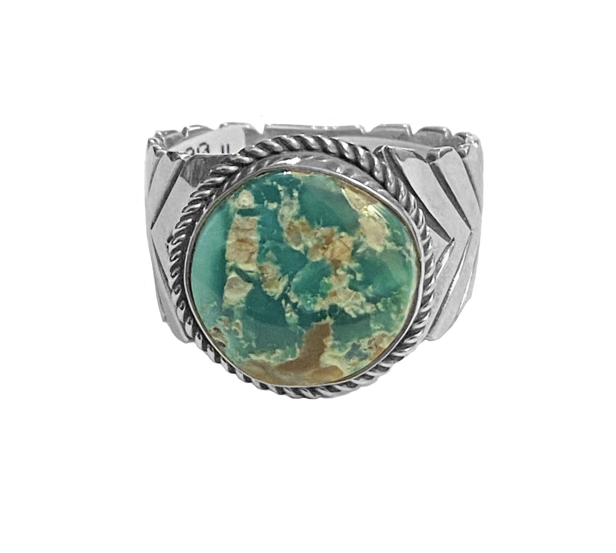 Size 11 Natural Fox Turquoise Ring