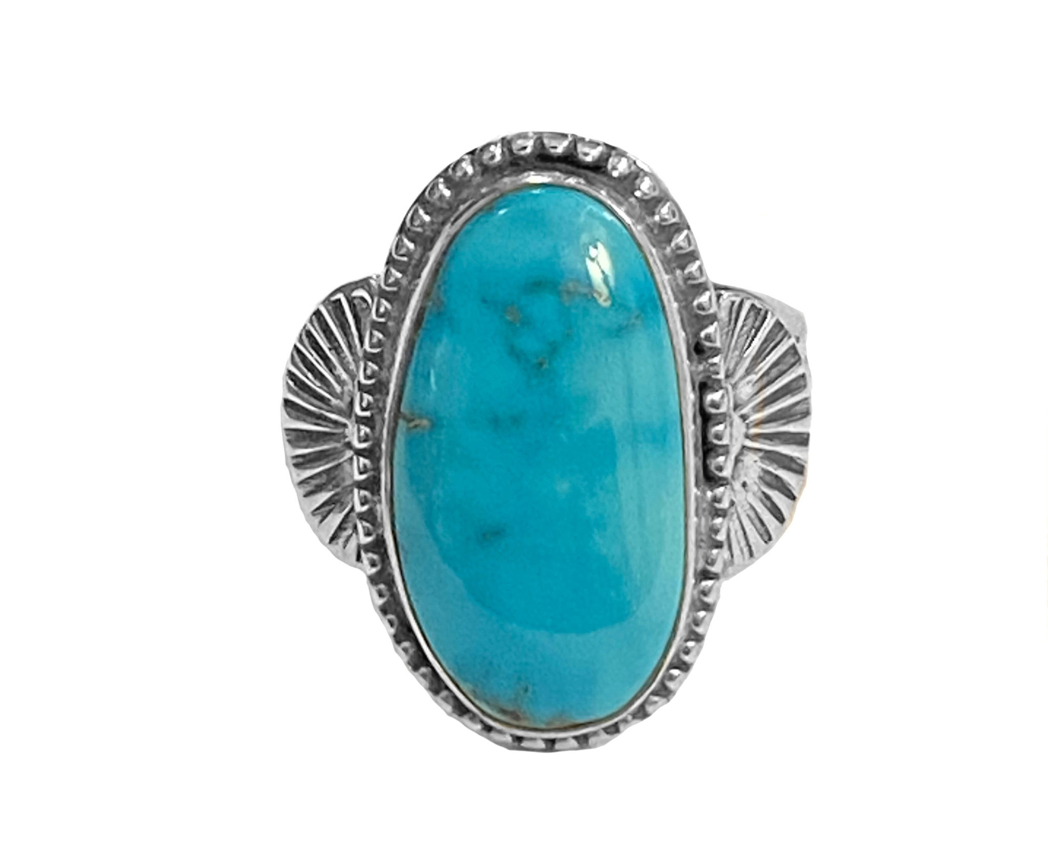 Natural Apache Blue Turquoise Ring