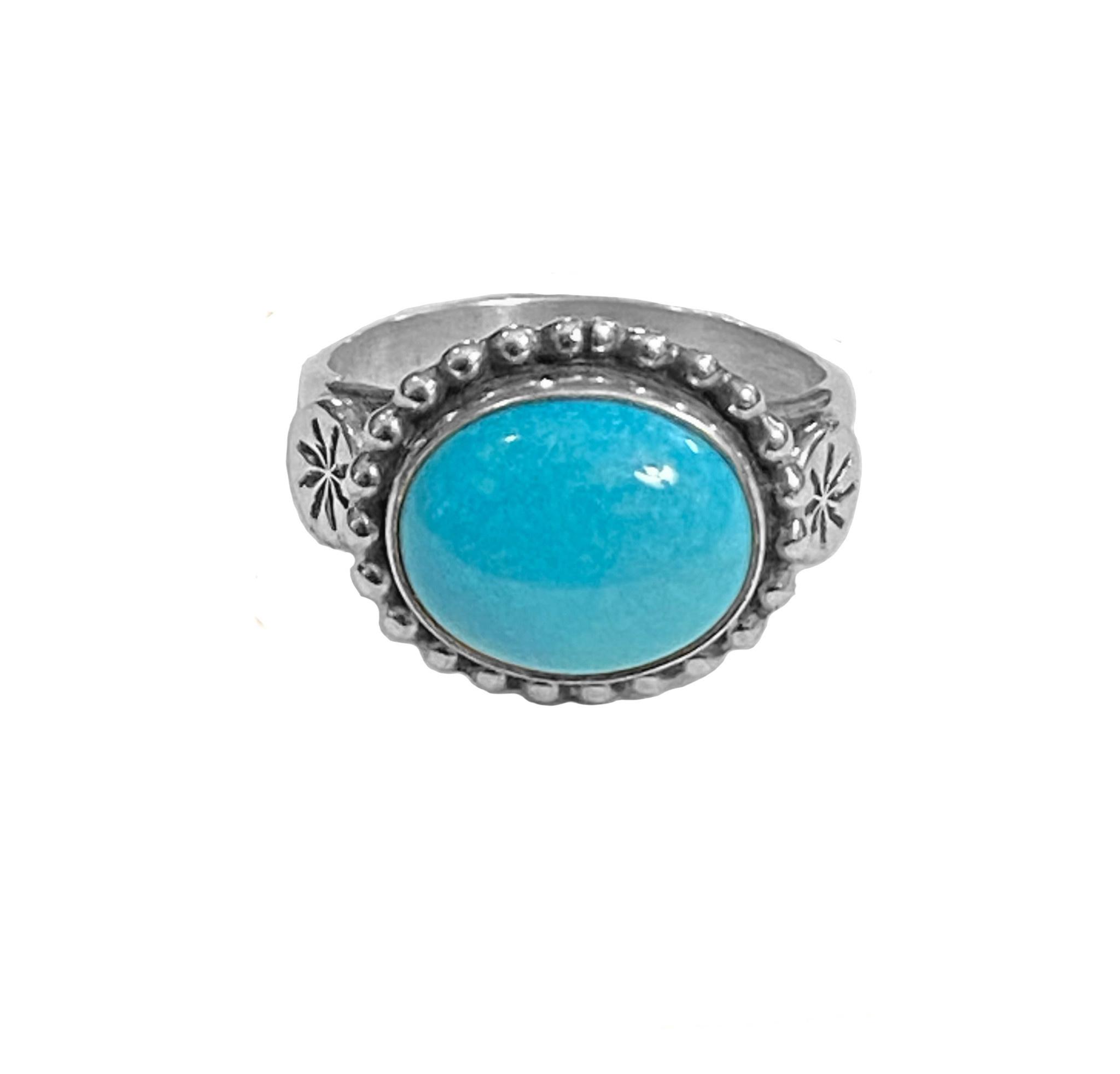 Size 7 Natural Sleeping Beauty Ring