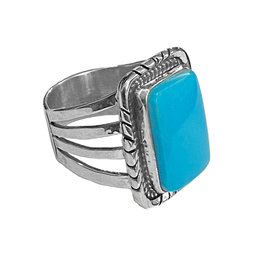 Natural Sleeping Beauty Turquoise Ring