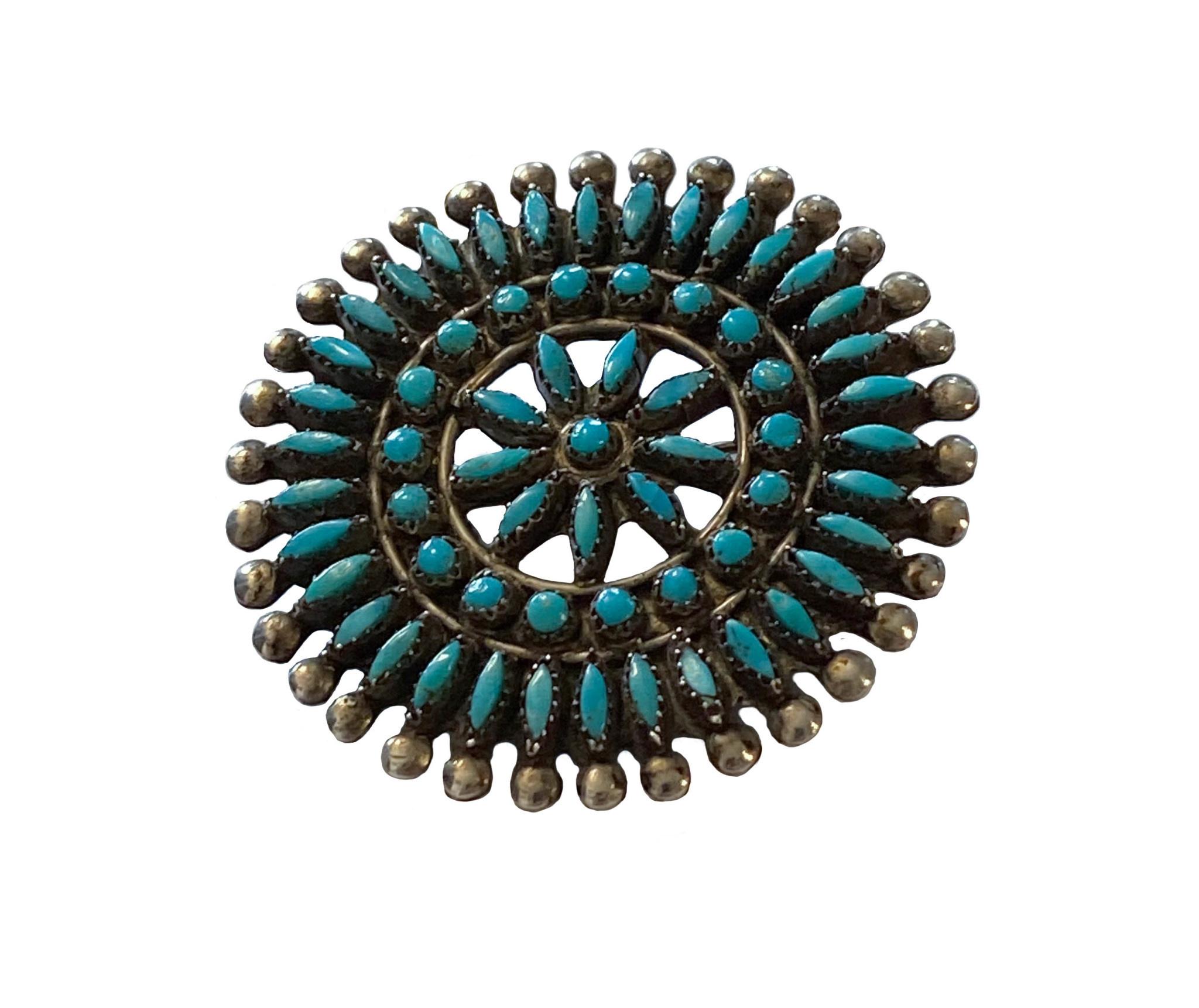 Vintage Zuni Cluster Broach (circa 1970's)