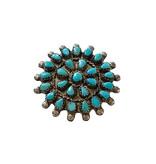Vintage Zuni Wheel Pin/Pendant