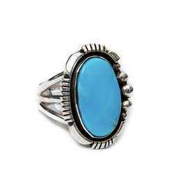 Natural Sleeping Beauty Turquoise Ring by Randy and Etta Endito